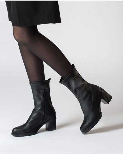 Wonders-Ankle Boots-Black ankle boot Moi