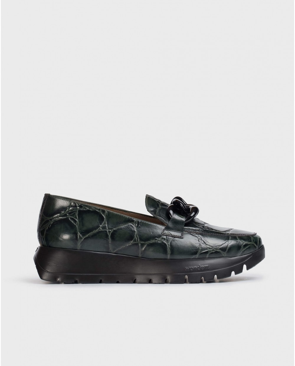 Wonders-Flat Shoes-Military Sala Moccasin