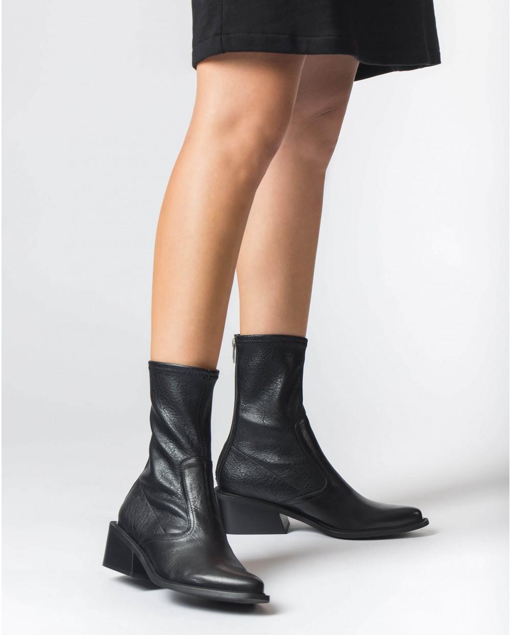 Black Laguna napa ankle boots