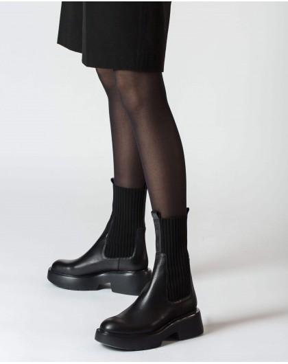 Wonders-Botines-Botín Sock Negro