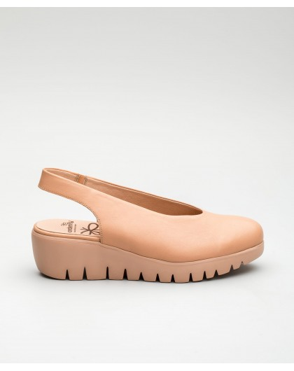 Wonders-Wedges-Loafer with wave throat