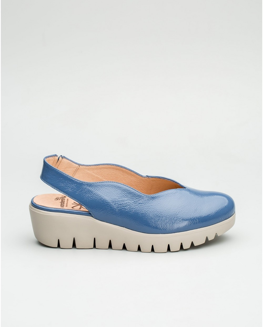 Wonders-Wedges-Lace up leather sports shoe