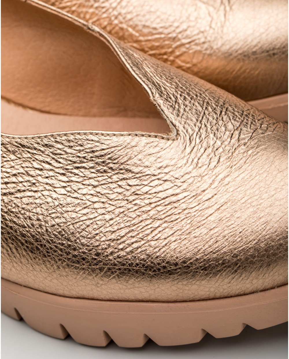 Wonders-Wedges-Elastic leather sports shoe