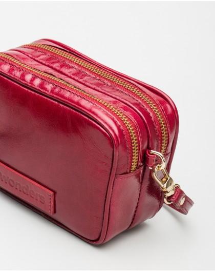 Wonders-Outlet-Crackle effect leather crossbody bag