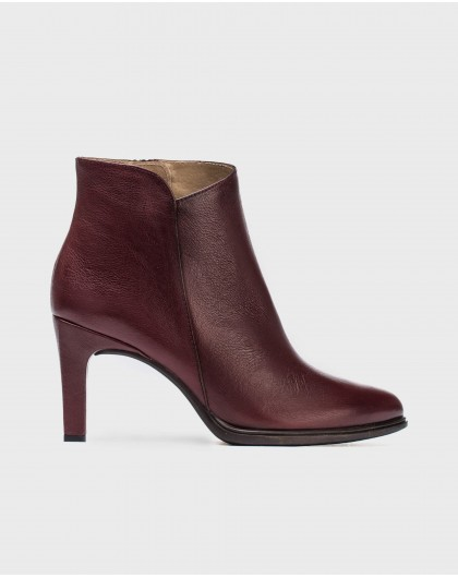 Wonders-Ankle Boots-Leather asymmetrical ankle boot
