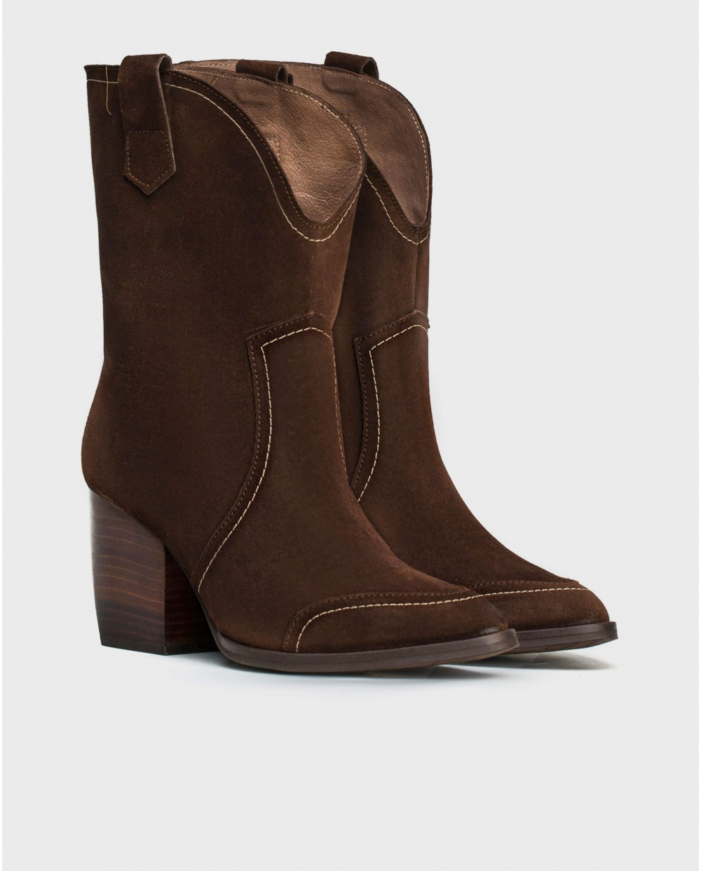 Wonders-Outlet-Leather waterproof 3/4 boot.