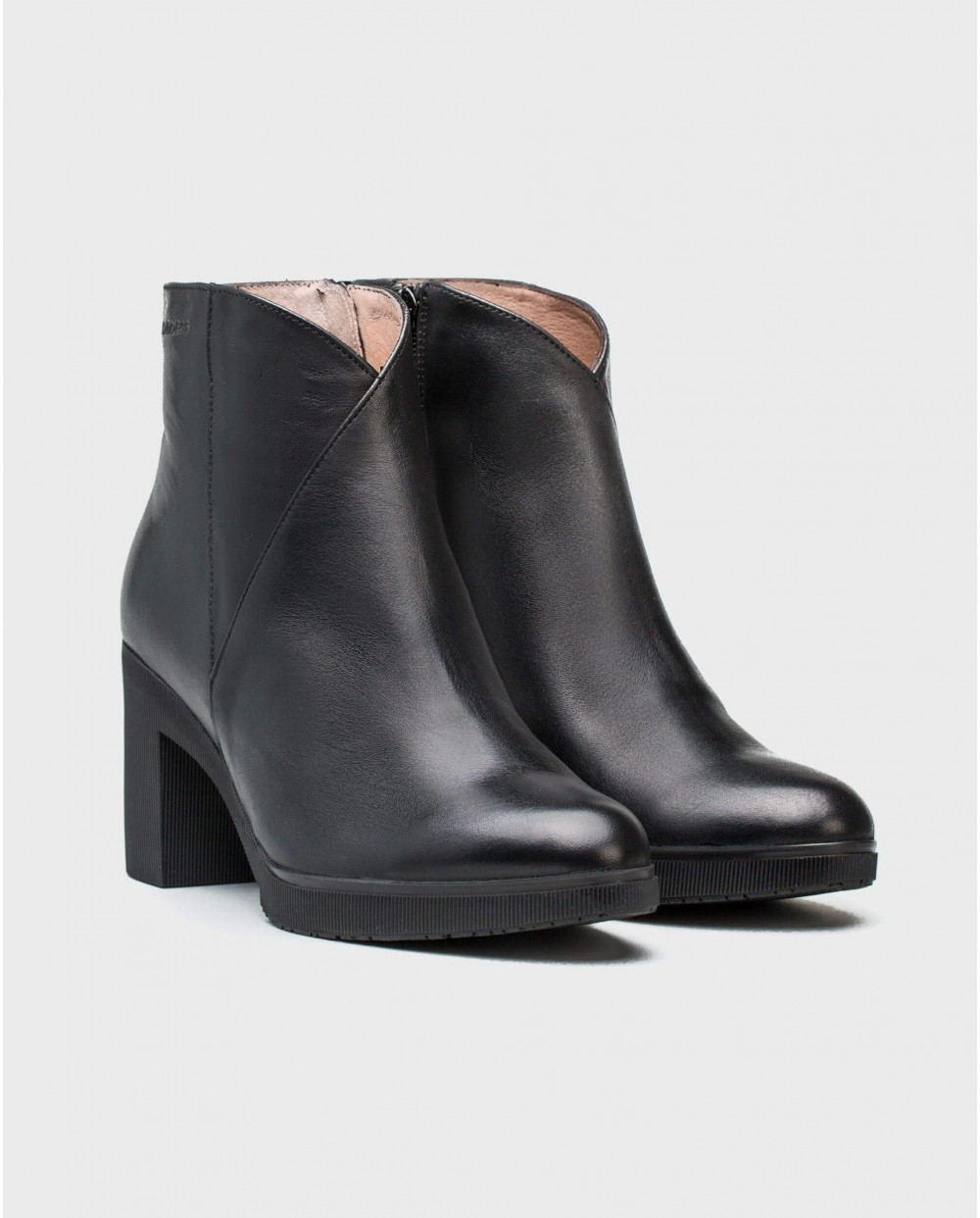 Wonders-Ankle Boots-Leather platform ankle boot