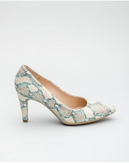 Wonders-Women-Leather animal print court shoe