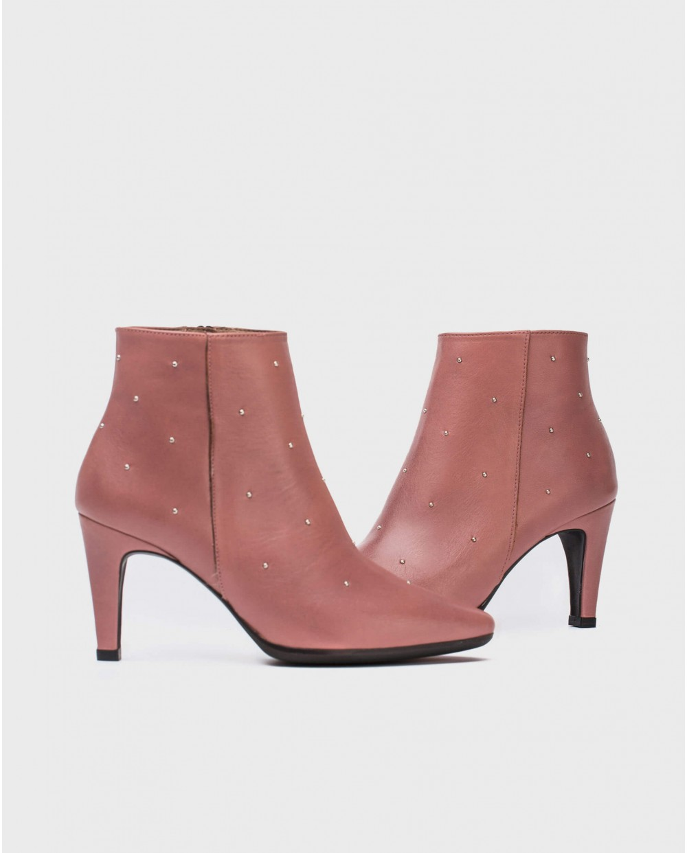 Wonders-Outlet Women-Ankle boot with metallic details