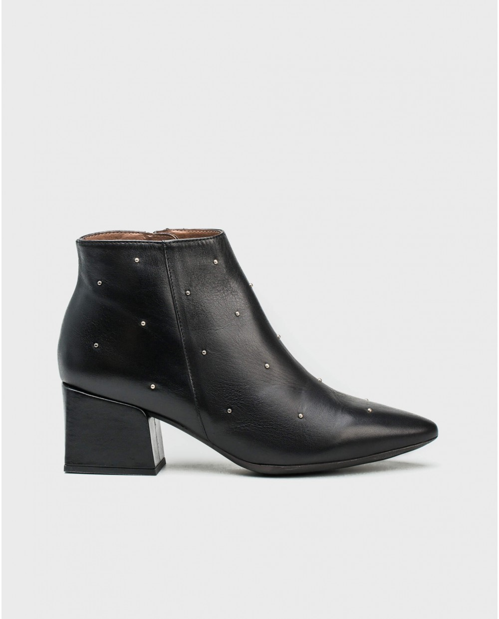 Wonders-Ankle Boots-Leather ankle boot with metallic detail