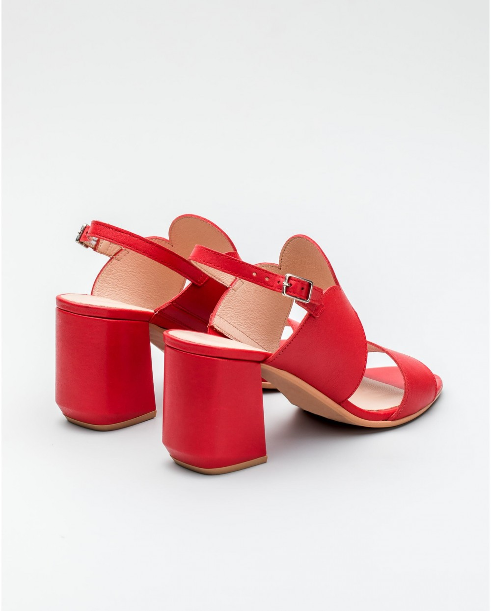 Wonders-Heels-Sandal with leather heel