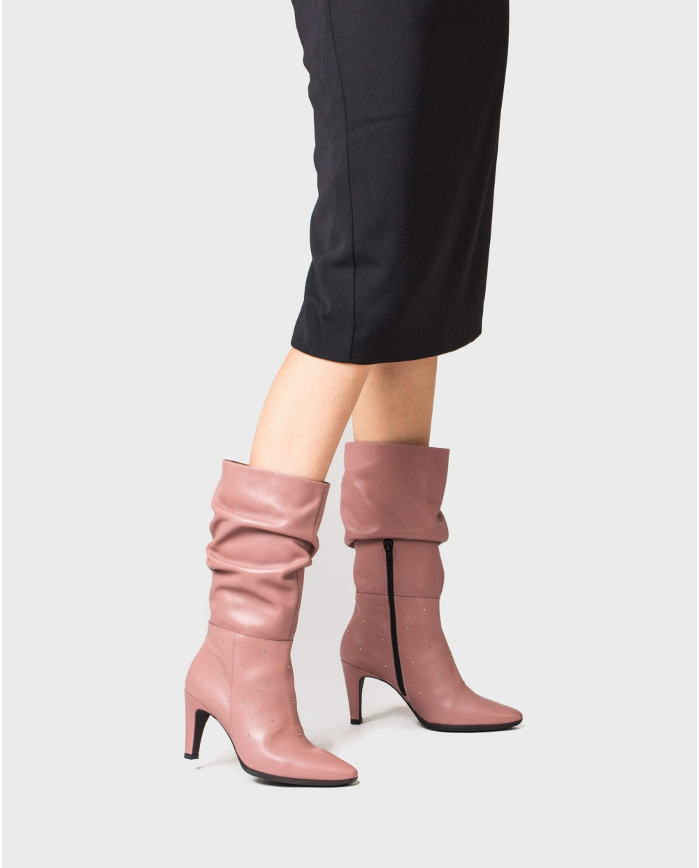 Wonders-Boots-Wrinkle effect leather boot