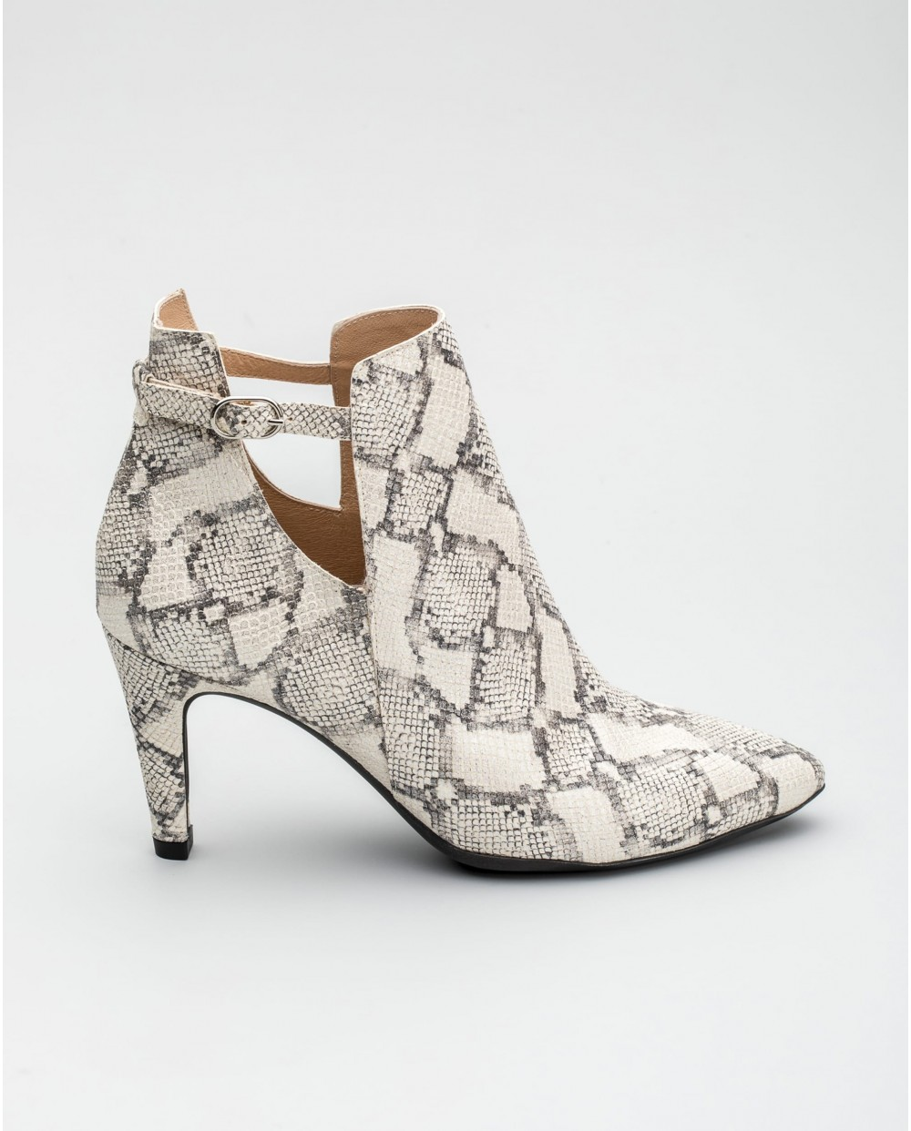 Wonders-Ankle Boots-Animal print high heeled ankle boot