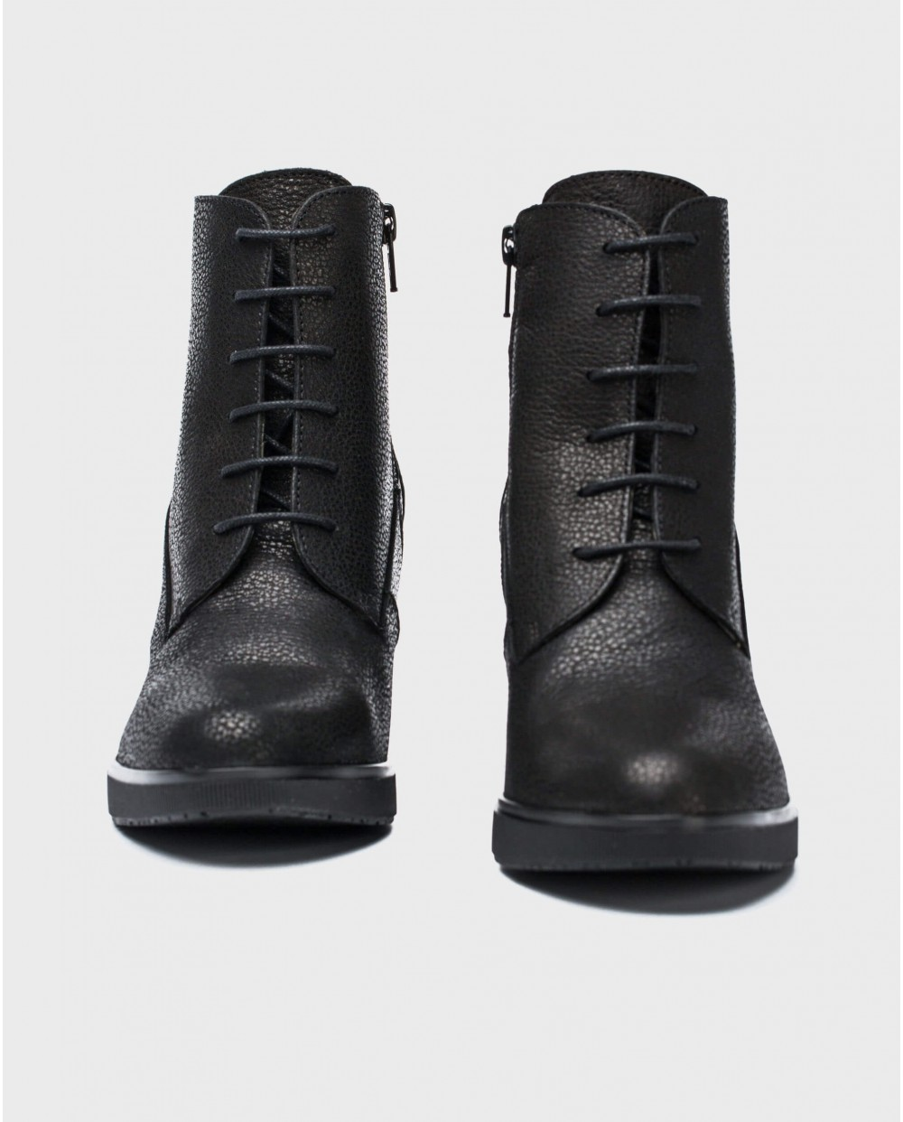 Wonders-Ankle Boots-Pebble leather ankle boot