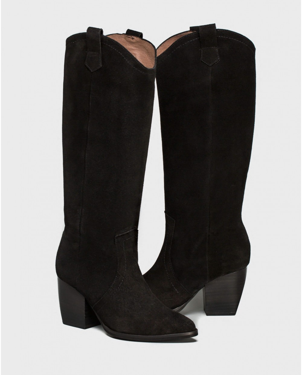 Wonders-Ankle Boots-Leather boot with cowboy heel