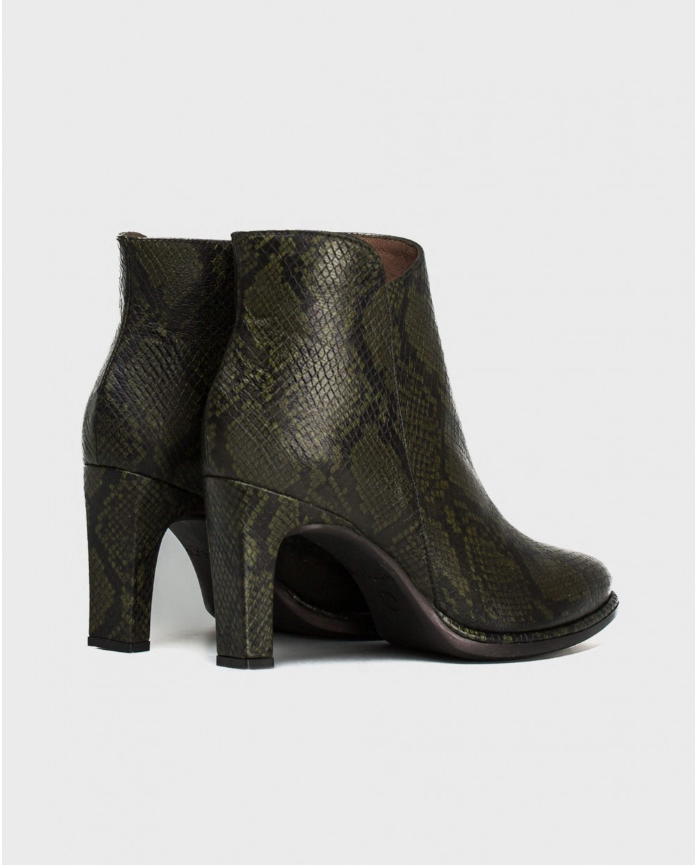 Wonders-Ankle Boots-snake print leather ankle boot