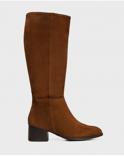 Wonders-Boots-Suede leather riding boots