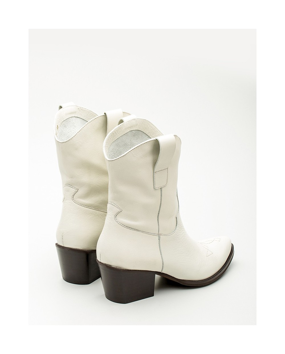 Leather Cowboy style ankle boot