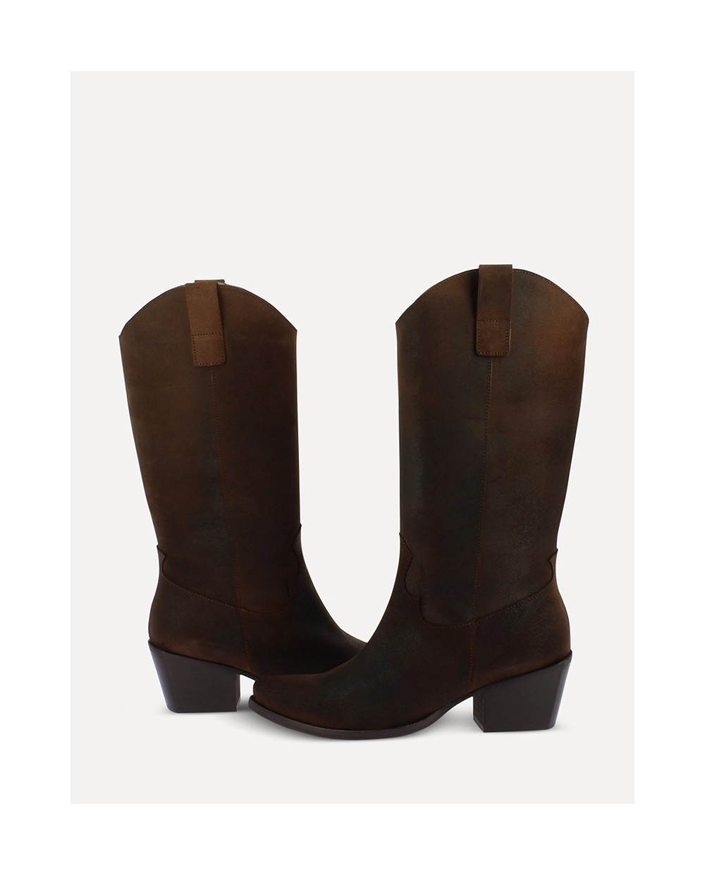 Suede leather Mid/calf ankle boot