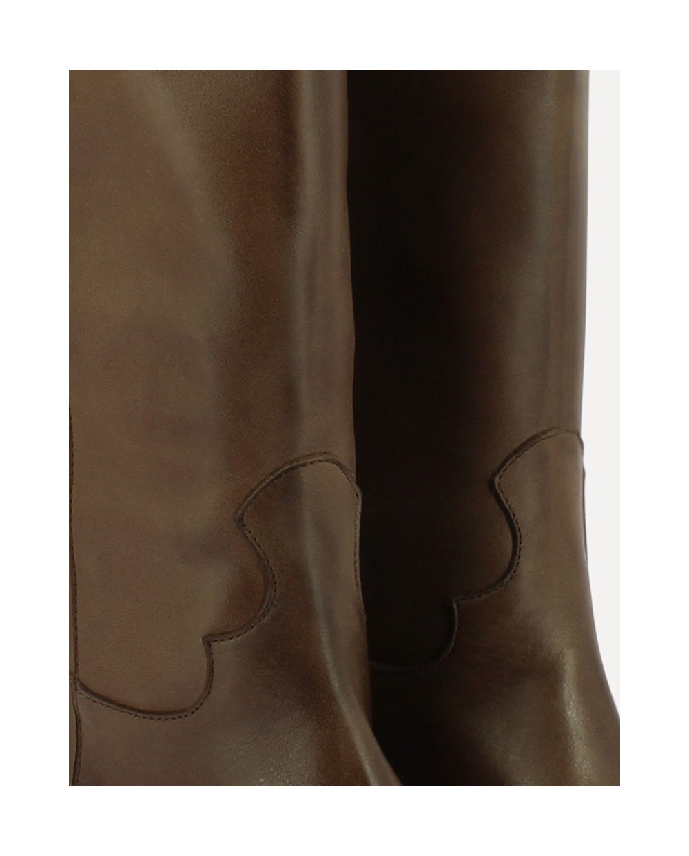 smooth leather Mid/calf ankle boot