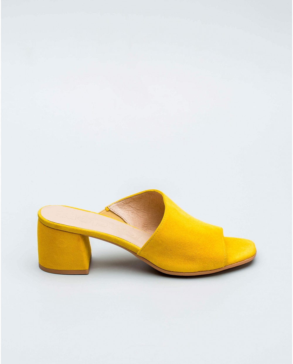 Wonders-Outlet Women-Leather mule with asymmetric cut