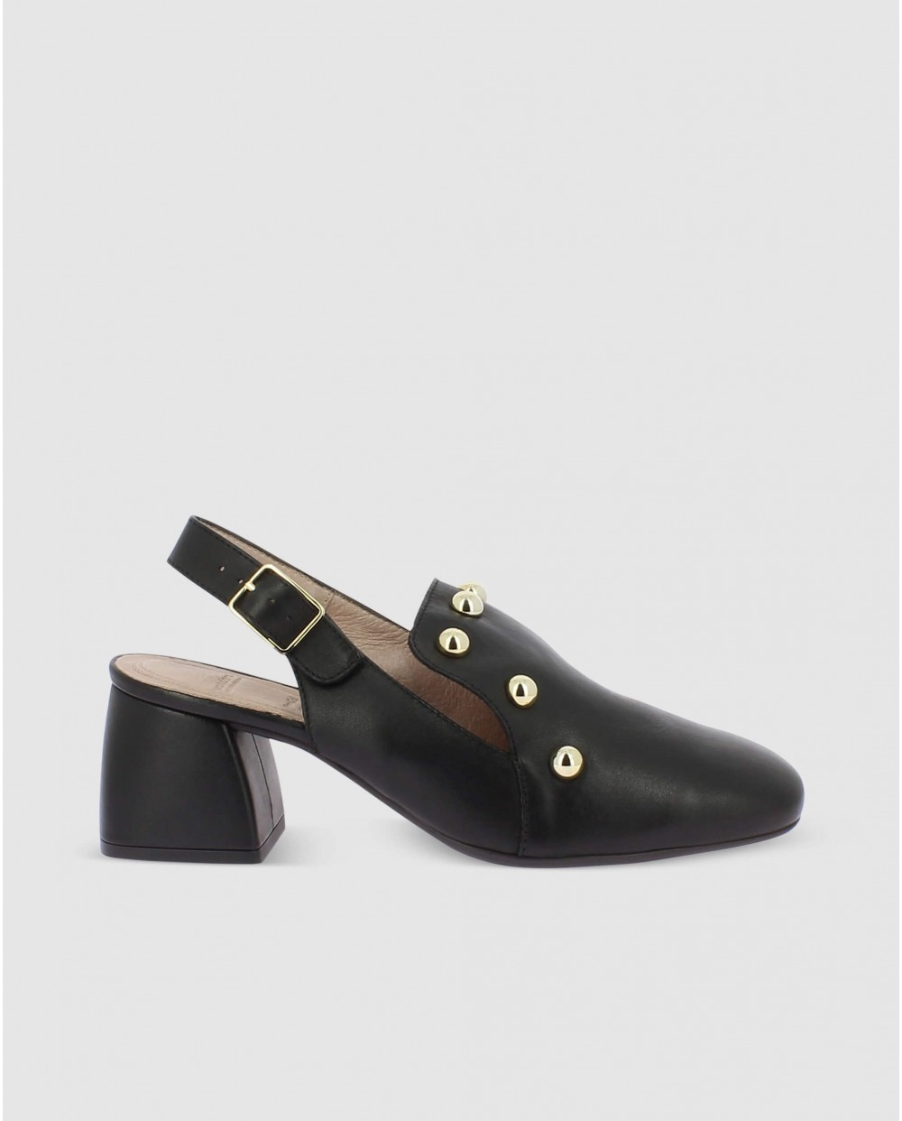 Wonders-Outlet-Backless shoe with metallic detailing