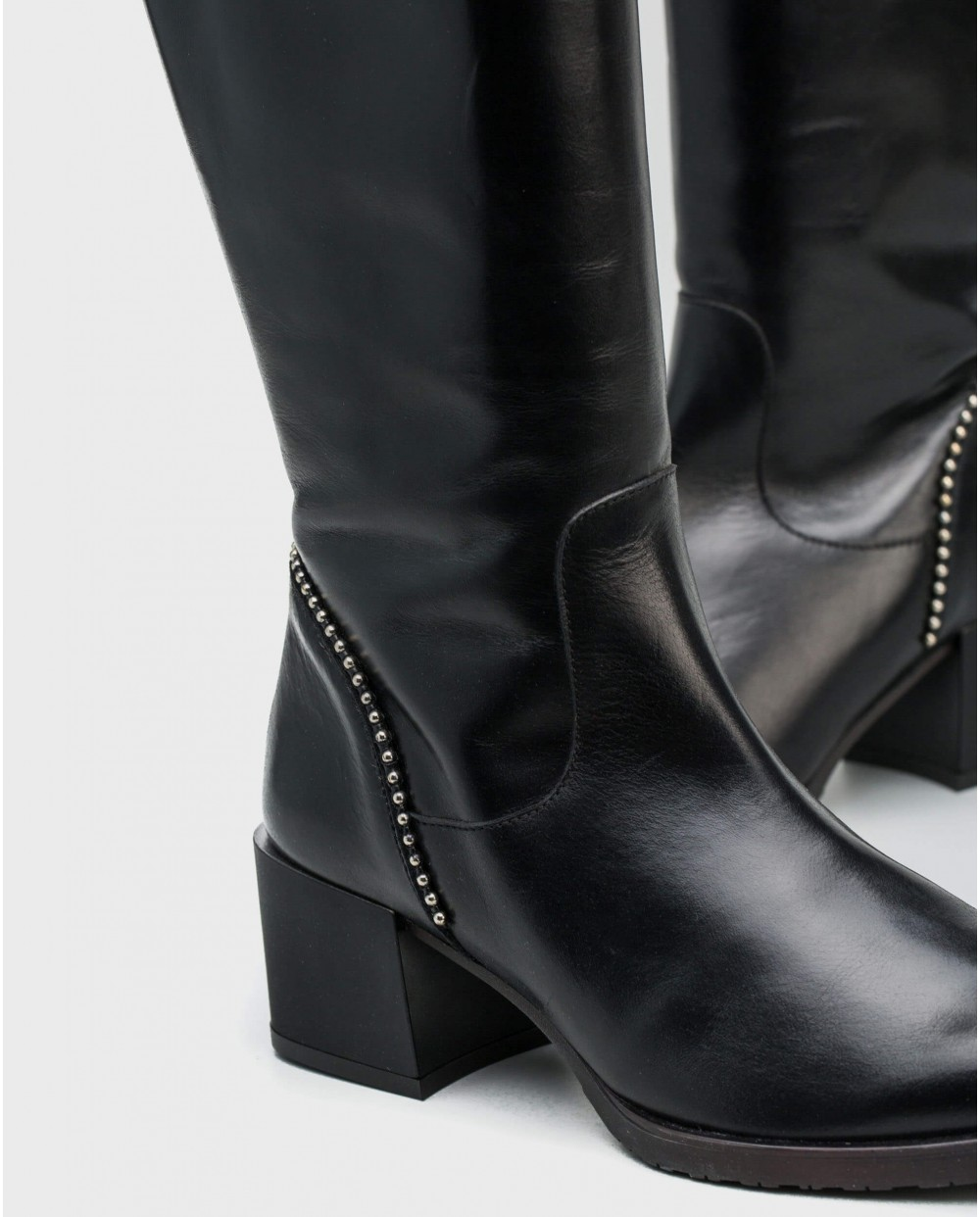 Wonders-Boots-Leather boot with micro stud