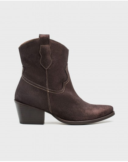 Wonders-Outlet-leather cowboy style ankle boot