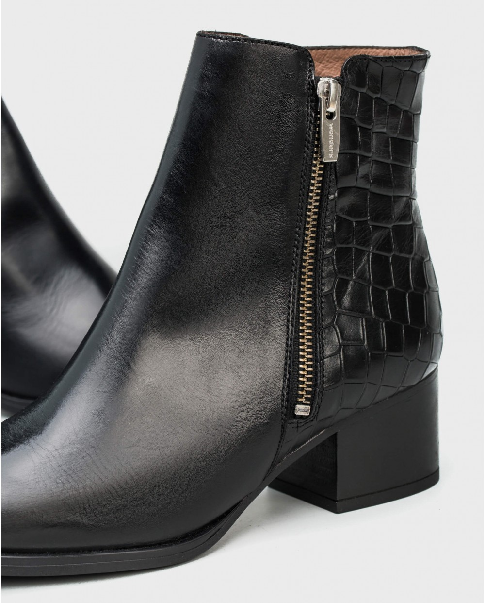 Wonders-Ankle Boots-Mock/crock ankle boot