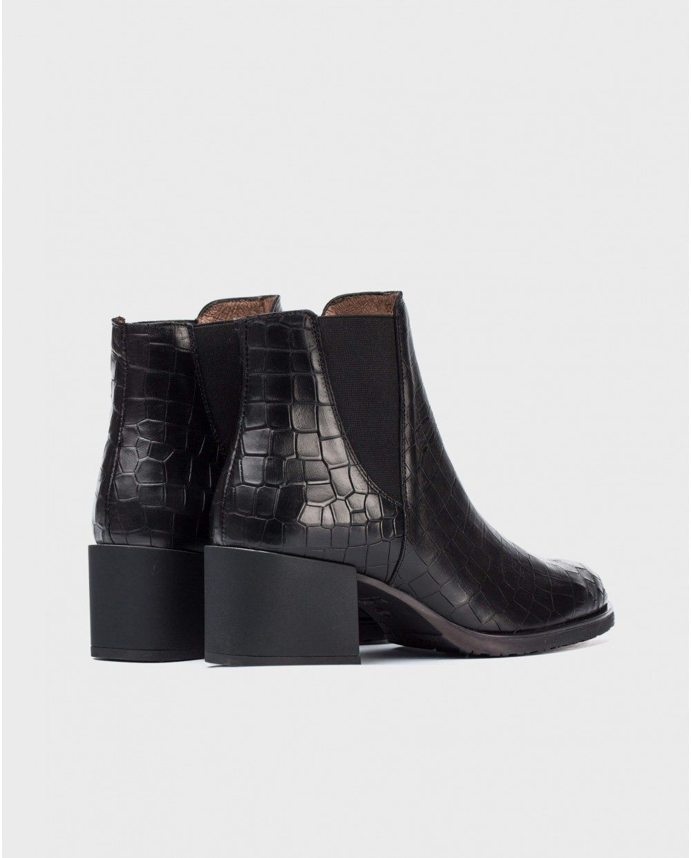 Wonders-Ankle Boots-Mock/croc ankle boot