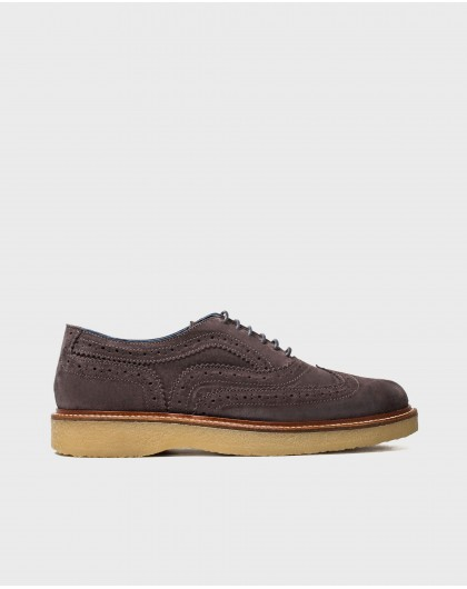 Wonders-Sneakers-Leather shoe with brogue detail