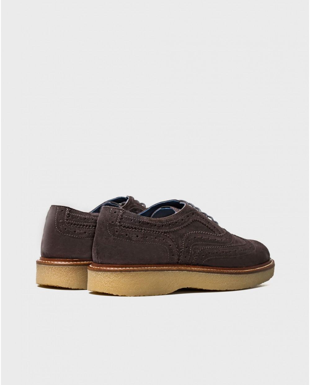 Wonders-Zapatos con cordones-Zapato piel detalle picado