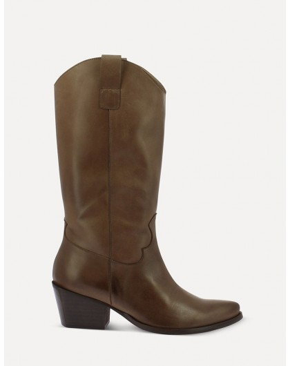 Wonders-Outlet-smooth leather Mid-calf ankle boot