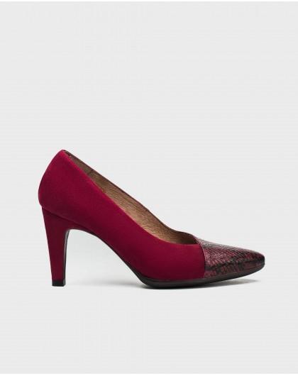 Wonders-Outlet-Snake print court shoe