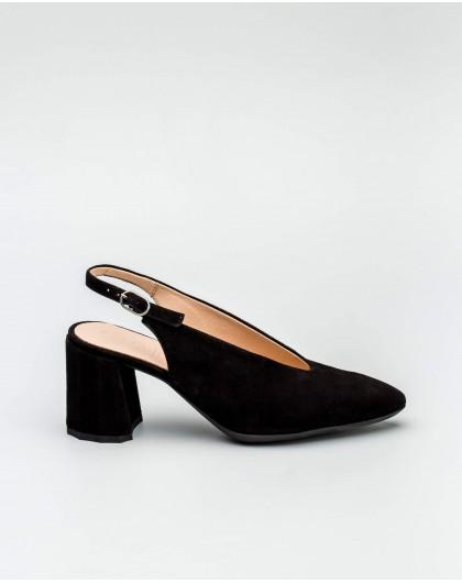 Wonders-Heels-High heel suede leather ankle boot