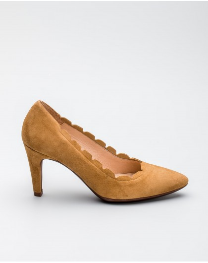 Wonders-Women-Suede leather court shoe