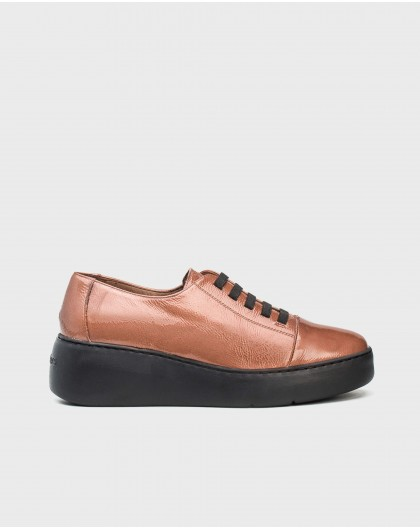 Wonders-Outlet-Leather sneakers with elastic fastener