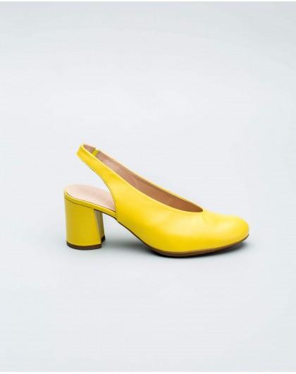 Wonders-Outlet-High cut slingback court shoe