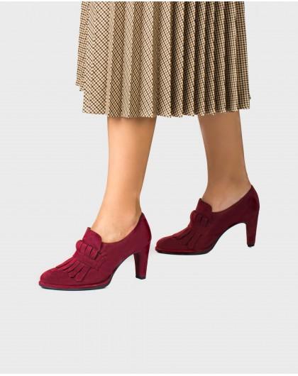 Wonders-Outlet-High heeled shoe with fringe detail