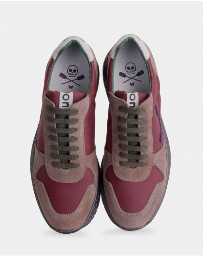 Wonders-Sneakers-Suede leather sneakers with shoelace closure