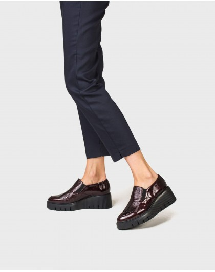 Wonders-Outlet-Leather penny loafer with fringe