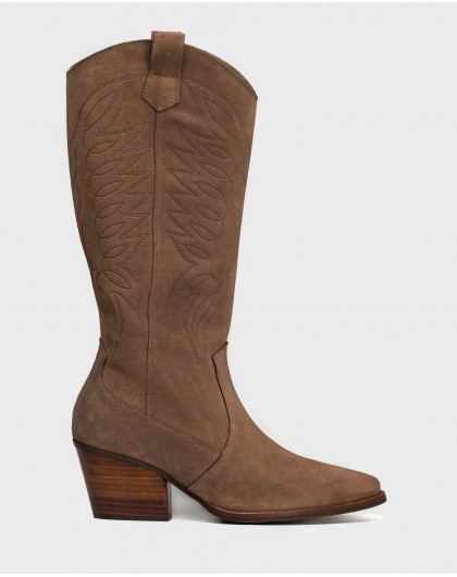 Wonders-Boots-Suede embroidered boot