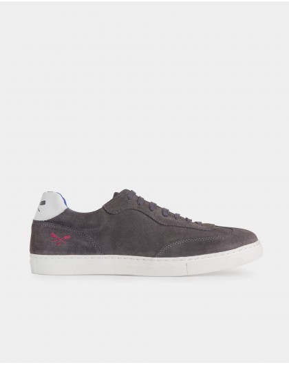 Wonders-Outlet-Suede leather sneaker with shoelace closure