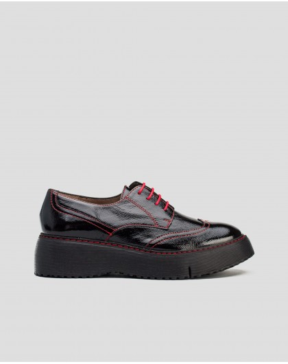 Wonders-Flat Shoes-Blucher with contrast stiching