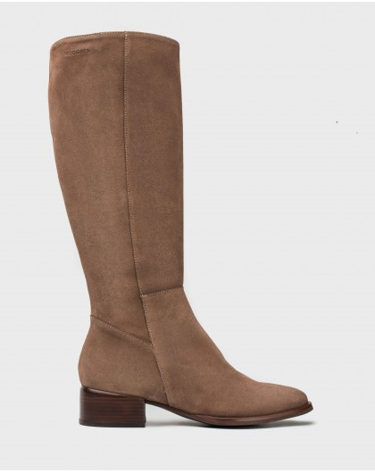 Wonders-Outlet-Classic suede leather boot