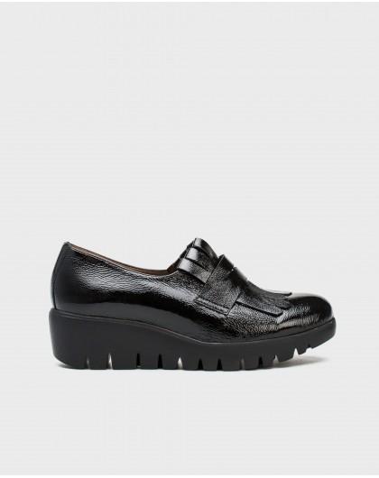 Wonders-Flat Shoes-Loafer Bell black