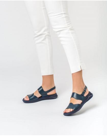 Wonders-Sandals-Leather double strap sandal