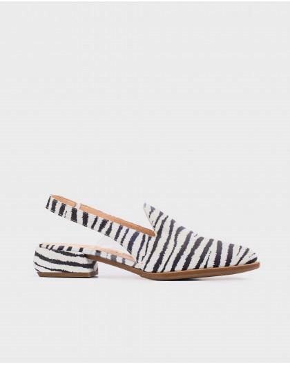 Wonders-New Season-Backless shoe with vinyl detail