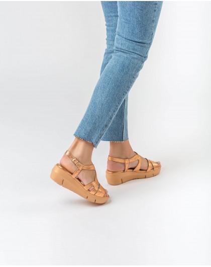 Wonders-Sandals-Strappy metallic sandal