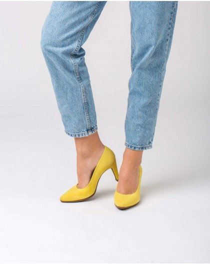 Wonders-Outlet-Suede High heeled shoes